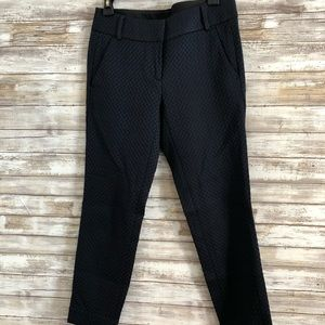 Detailed navy trousers